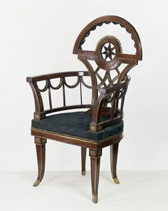 Neoclassical Armchair made 1790. The Victoria and Albert Museum. Perfect for Griffin's office in Confessions of a Royal Bridegroom.