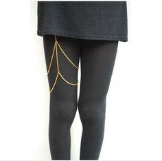 Gold silver layered leg chains Body Jewelry miniskirt accessories sexy leg garter thigh stockings sexy thigh chain jewelry gift