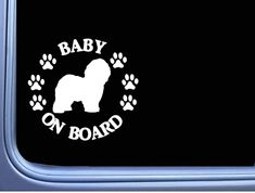 Window Decals, Car Decals, Bumper Stickers, Old English Sheepdog, Car Magnets, Dogs, Baby, Bumper Stickers For Cars, Window Stickers