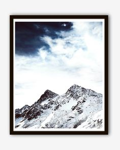 Mountain Tops Photography Poster