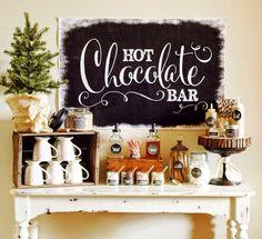 Hot chocolate bar!