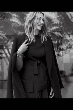 Julia Roberts in WSJ - coat by The Row, dress and pants by Proenza Schouler