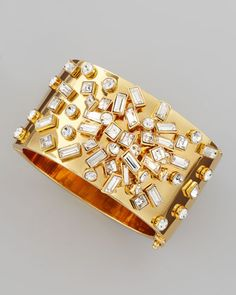 Kind of obsessed with this.  Wondering if it would work with my dress. Kaleidoball encrusted bangle by kate spade.