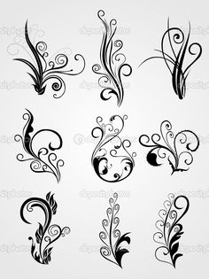 Floral Tattoo Designs. Misdle row far right and top row far left would look good together