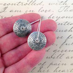 Silver Lentil Earrings