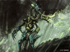 Necron, Warhammer Fantasy, Warhammer 40k, Fan Art, Artworks, Oc, Sci Fi, Gallery, Fictional Characters