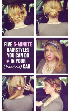 Diy Projects: 5 Quick and Easy Hairstyles You Can Do in Your Parked Car