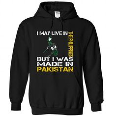 I May Live in the Philippines But I Was Made in Pakista - #oversized sweater #sweater scarf. GET YOURS => https://www.sunfrog.com/States/I-May-Live-in-the-Philippines-But-I-Was-Made-in-Pakistan-zarfgfhafb-Black-Hoodie.html?68278
