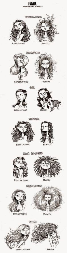Hair products: Expectations vs. Reality. All of this is so relateable