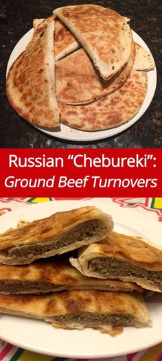 (from )Russian Chebureki Recipe - Ground Beef Turnovers! Ukrainian Recipes, Russian Recipes, Ukrainian Food, Croatian Recipes, Hungarian Recipes, Tostadas, Tacos, Russian Dishes, Russian Foods