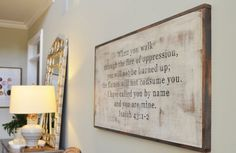Scripture Sign (customizable). $125.00, via Etsy. / would love to have this. not sure which scripture i would choose... but the one on it isn't bad :) for such a beautiful and big piece though i'd probably switch to one of my top ten or life verse...
