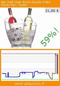 Bar Craft Clear Acrylic Double Sided Drinks Pail / Cooler (Cuisine). Réduction de 59%! Prix actuel 21,80 €, l'ancien prix était de 52,63 €. http://www.adquisitio.fr/kitchen-craft/bar-craft-double-seau