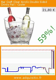Bar Craft Clear Acrylic Double Sided Drinks Pail / Cooler (Cuisine). Réduction de 59%! Prix actuel 21,80 €, l'ancien prix était de 52,63 €. http://www.adquisitio.fr/kitchen-craft/bar-craft-double-seau