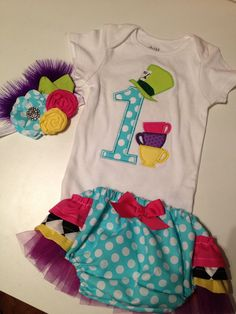 Alice in ONEderland birthday outfit  first by PeacebyPiece01, $55.00