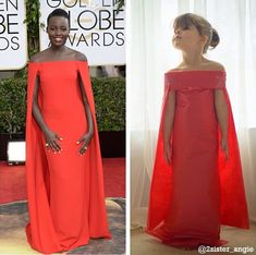 Lupita N'yongo's red carpet Ralph Lauren Collection gown has a new fan: four year old Mayhem