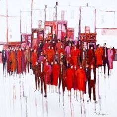 pic1 Rush Hour,Original Painting on Linen, Gallery Canvas, Size 90cm x 90cm. Cost €3200, 00. + P&P Payment By Visa.or Paypal invoice Rush Hour, Irish Art, Canvas Size, Original Paintings, The Originals, Abstract, Gallery, Artwork, House