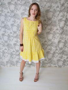 Oak Park dress yellow $58.00