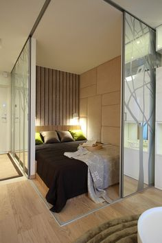 The whole appt. is sleek and elegant. Great use of mirrors and space.