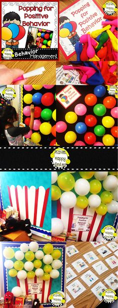 """Balloon POP!  """"Popping for Positive Behavior!""""  This is a great activity to help increase positive behaviors at the end of the year. Kids love this activity! Great for Classroom Management!"""