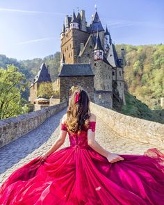 Burg Eltz, Germany will be your next destination? Photo by Lovely Girl Image, Girls Image, Fantasy Photography, Girl Photography Poses, Girl Pictures, Girl Photos, Princess Aesthetic, Fantasy Dress, Fashion Gallery