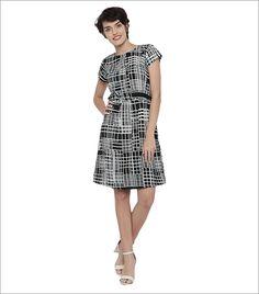 Moda Rapido Women Black Printed A-line Dress