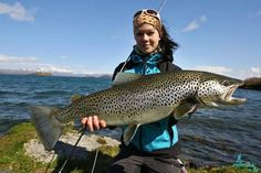 Lydia Almendarez and her Great brown trout