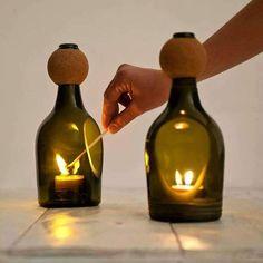 Еще одна коллекция идей со стеклянными бутылками