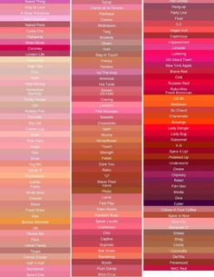 cores de batons da mac