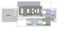 Ranch Style House Plan - 4 Beds 3.5 Baths 2618 Sq/Ft Plan #445-2 Floor Plan - Main Floor Plan - Houseplans.com