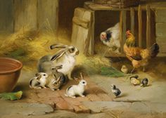 Farmyard Offspring by Edgar Hunt | Art Posters & Prints