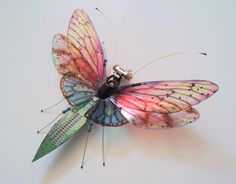 The Giant Through the Looking Glass, Circuit Board Insect by Julie Alice Chappell