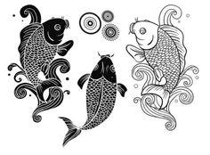 Koi fish yin and yang symbol i like the water idea but i for Fish symboled stamp