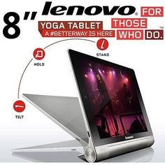 """LENOVO YOGA 8 SERIES GREYTABLET PC - LAST ONE LEFT ORDERTODAY TO AVOID DISAPPOINTMENT!!!!!!NOW ONLY R2499.00 EXCL VAT AND FREE DELIVERY WITHIN A 50K RADIUS ALSO AVAILABLE IN 10.1"""" Lenovo Yoga 8Series Tablet PC, MediaTek MTK 8389W 1.2 GHz Quad-Core Processor, 802.11b/g/n Wireless Lan, Bluetooth, Built in 3G, 1.6MP frontcamera"""