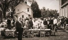 Dinner on the grounds after church on Sunday afternoons was once a beloved tradition in America, where friends and neighbors could take time out of their busy lives to visit and spend time with each other~