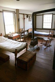 bedroom in the main house hancock shaker village massachusetts best shaker chair sources - Shaker Apartment Decor