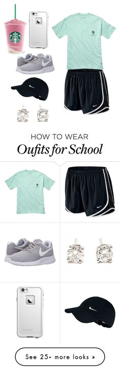 """""""No School Today!//Gabbie """" by preppy-and-classy-girls on Polyvore featuring NIKE, Fraternity, Tiffany & Co. and LifeProof"""