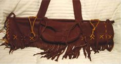 Brown Leather Quiver with fringe