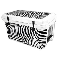 MightySkins Protective Vinyl Skin Decal Wrap for RTIC 45 qt Cooler cover sticker Black Zebra * To view further for this item, visit the image link.