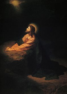 and Garden of Gethsemane is located at the foot of Mount of Olives in where prayed before his crucifixion. Jesus Christ in Gethsemane by Heinrich Hofmann (circa Paintings Of Christ, Jesus Painting, Painting Art, Catholic Art, Religious Art, Agony In The Garden, La Salette, Religion, Jesus Tattoo