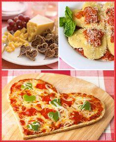Comida en forma de corazón de San Valentín