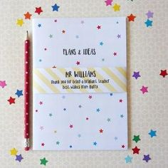 Star Teacher Notebook - Find the perfect present for your little nipper's school teacher. From beautifully personalised gifts to classroom essentials, you'll be sure to find something that will send your child to the top of the class.