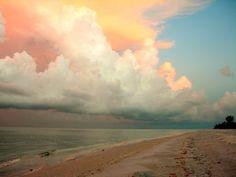 Shoreline  #sea #clouds