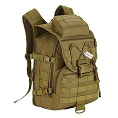 Protector Plus Tactical MOLLE Assault Backpack Pack Military Gear Rucksack  40 L Large Waterproof Bag Sport Outdoor For Hunting Camping Trekking ... 8c3f282538202
