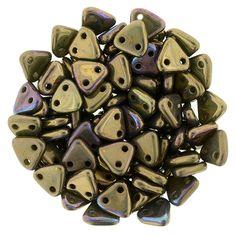 371-06-15768 CzechMates Triangle 6mm : Oxidized Bronze Clay