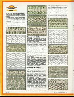 bordados en tul (pág. 30) | Aprender manualidades es facilisimo.com Tambour Embroidery, Vintage Embroidery, Ribbon Embroidery, Embroidery Stitches, Embroidery Patterns, Crochet Hammock, Romanian Lace, Crochet Bookmarks, Point Lace