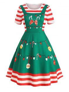 Plus Size Christmas Print Vintage Swing Dress Cheapest and Latest women & men fashion site including Plus Size Vintage Dresses, Plus Size Dresses, Dress Vintage, Pin Up Dresses, Summer Dresses, Dress Outfits, Snowflake Dress, Outfits Plus Size, Mode Vintage