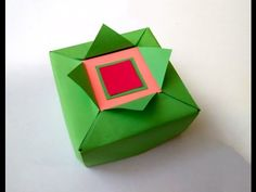Easy Origami gift box. Great ideas for gift wrapping - YouTube
