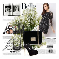 """""""Belle"""" by selmagorath ❤ liked on Polyvore featuring GUESS, Laura Geller, Anne Klein, Jimmy Choo, NARS Cosmetics, Stila, Giuseppe Zanotti, Marni, New Growth Designs and vintage"""