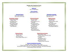 Sample Church Organization Chart  First Protestant Church
