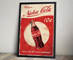 Fallout 3 Inspired Vintage Poster  Nuka Cola by ThePixelEmpire, $18.00